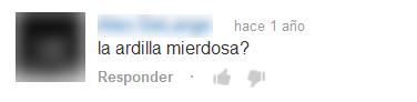 Comentario en Youtube