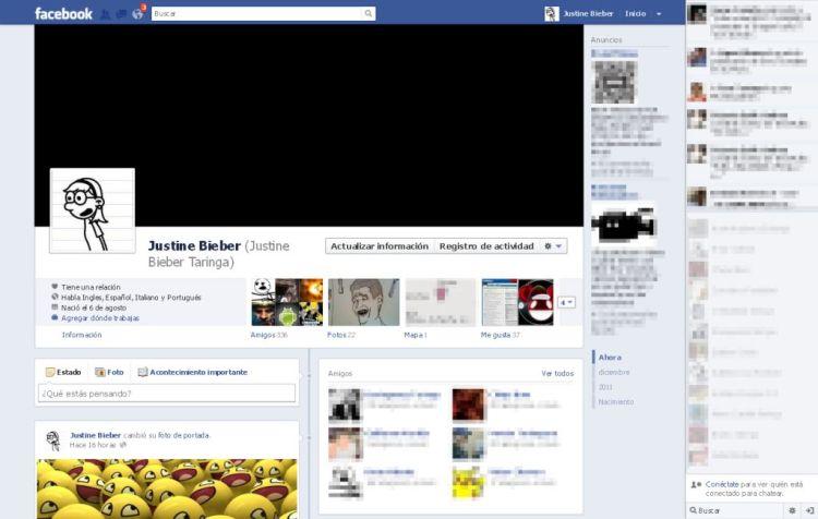 La unica captura de mi perfil en Facebook, un dia despues de haber activado la Biografia, me cerraron el perfil sin motivos.