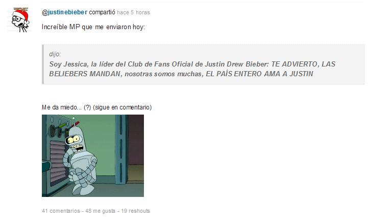 'Justine C_ Bieber en Taringa!' - 12 shout